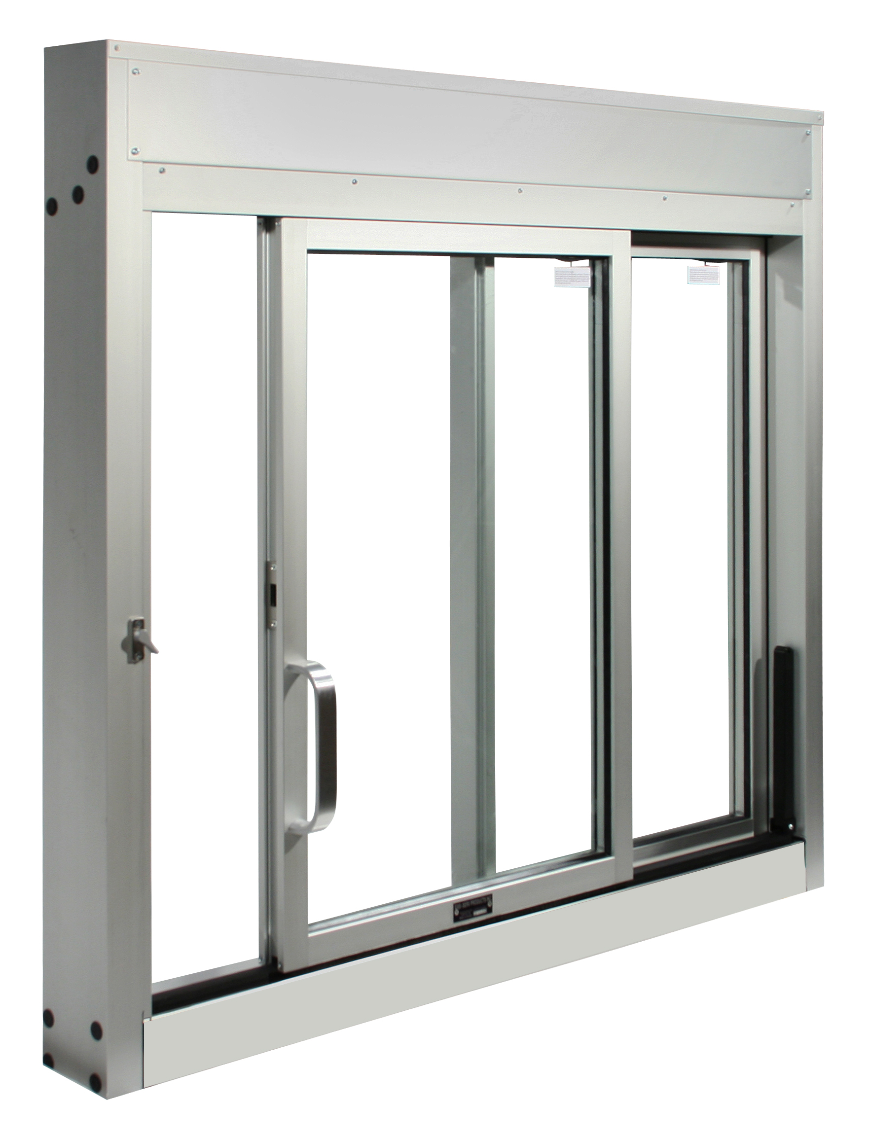 Single Glass Windows : Single side sliding windows drive thru